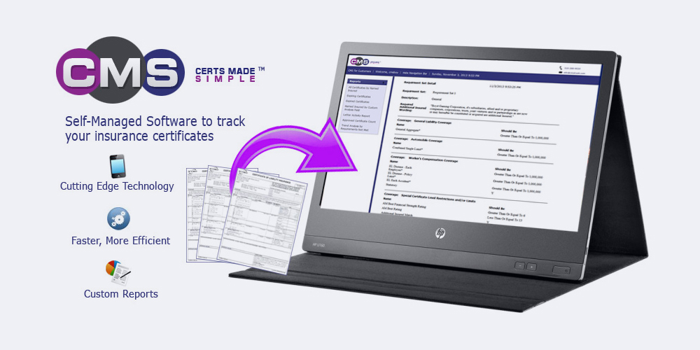 Insurance Certificate Tracking Software Cms Certificate Management